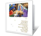 Holy Night christmas printable cards