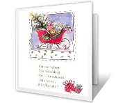 Wishes for Relative christmas printable cards