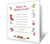 What Is Christmas? christmas printable cards