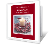 Blessings of Christmas printable christmas card