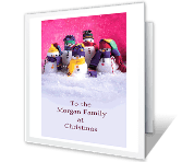 To a Special Family christmas printable cards