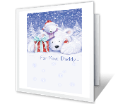 For Daddy christmas printable cards