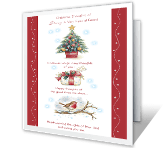 Thoughts of Our Friendship christmas printable cards