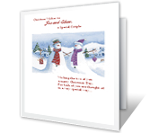 You're a Special Couple christmas printable cards