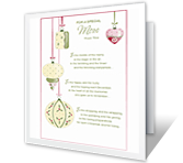 For a Special Mom christmas printable cards
