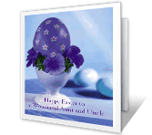 Wonderful Aunt & Uncle easter printable cards