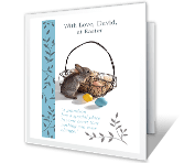 Special Grandson easter printable cards