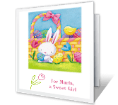 For a Sweet Girl easter printable cards