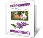For a Wonderful Sister easter printable cards