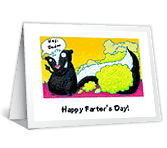 Happy Farter's Day! father's day printable cards