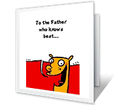 Your Know-it-all Son father's day printable cards