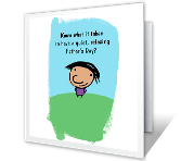 Father's Day Irony printable fathers day card