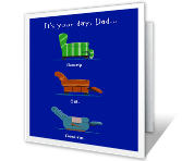 It's Your Day printable fathers day card