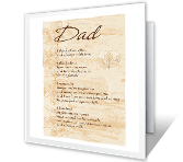 When I Think of You father's day printable cards