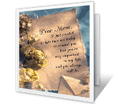 Dear Mom... printable mothers day card