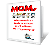 Where Would We Be<br>Without You? mothers day printable cards