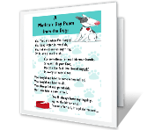 A Poem From the Dog printable mothers day card