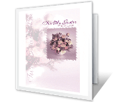 With Love, Sister mothers day printable cards