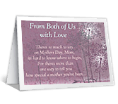 From Both of Us mothers day printable cards