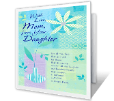 With Love, from Your Daughter mothers day printable cards