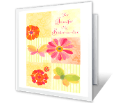 You're a Special Sister-in-law mothers day printable cards