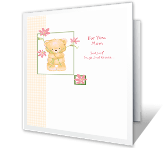 Hugs and Kisses for You mothers day printable cards