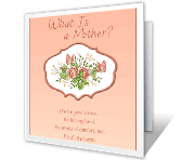 What Is a Mother? mothers day printable cards