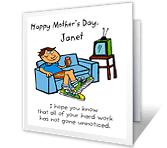 I'm Watching You mothers day printable cards