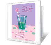 Half Full or Half Empty? printable mothers day card