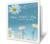 Happy Mother's Day from Her Son mothers day printable cards