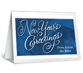 Across the Miles new years printable cards