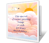 Special Wishes passover printable cards