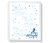 Christmas Printable Cards - Let It Snow!