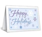 Happy Holidays seasons greetings printable cards