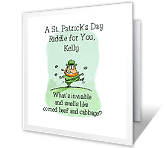 A Stinky Riddle st. patricks day printable cards