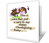 Long-distance Hug printable thanksgiving card