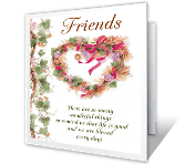 The Gift of Friends thanksgiving printable cards