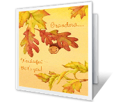 Grateful for Grandma thanksgiving printable cards