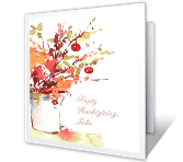 Beautiful Day printable thanksgiving card