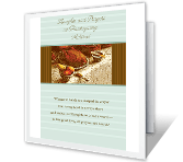 Thoughts and Prayers thanksgiving printable cards