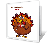 Gobble Till You Wobble printable thanksgiving card