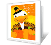 A Great Turkey Day printable thanksgiving card