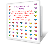Wonderful to Know You valentines day printable cards