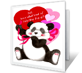 Hugs & Kisses valentines day printable cards