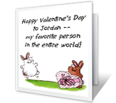 Favorite Person valentines day printable cards