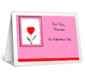 From the Heart valentines day printable cards