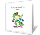 Hippity-hop! valentines day printable cards