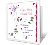 Secret Pal valentines day printable cards