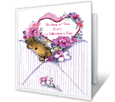 Love Across the Miles valentines day printable cards