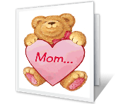 Love for Mom valentines day printable cards